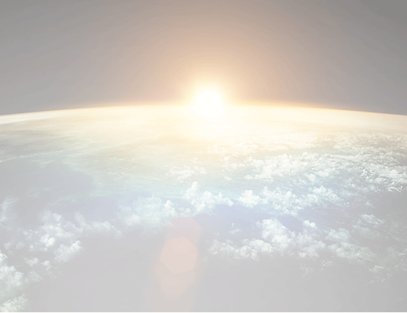 Horizon of the sun over the earth