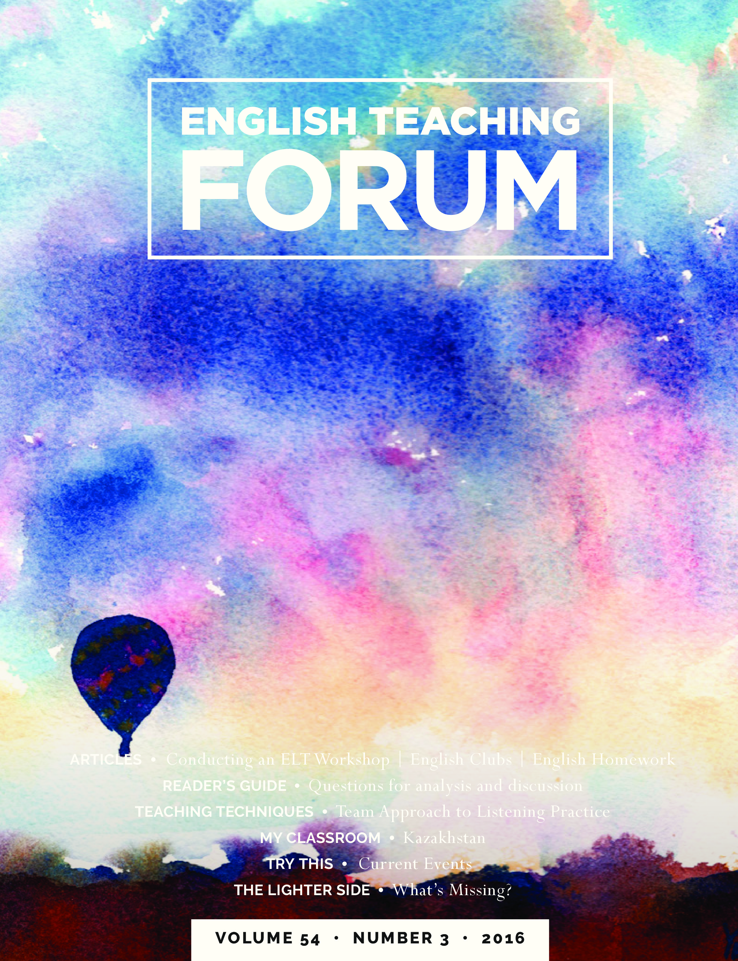English Teaching Forum 2016, Volume 54, Number 3 | American
