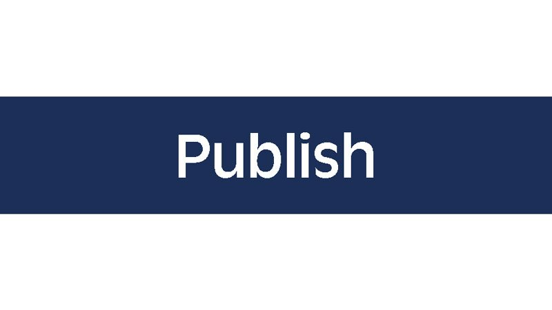 "Dark blue button with text that reads ""Publish"""