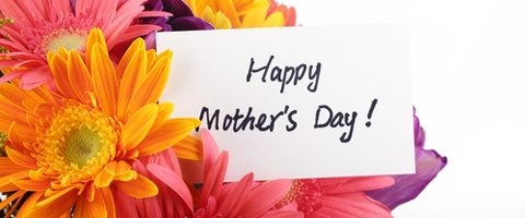 Image of flowers and mother's day card