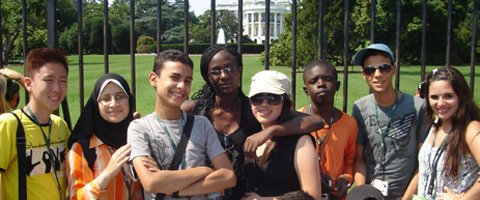 Photo of Students in front of the White House