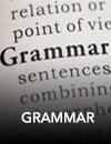 "Close up of the word ""Grammar"" in a book"