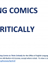 Creating Comics to Think Critically