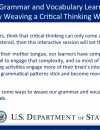 Making Grammar and Vocabulary Learning Stick by Weaving a Critical Thinking Web