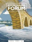 Cover graphic of bridge over water with people walking at top and title text reads: English Teaching Forum