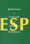 Title graphic reads: Responses to English for Specific Purposes with the letter E-S-P in big yellow print