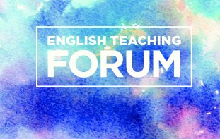 English Teaching Forum title cover with abstract colors