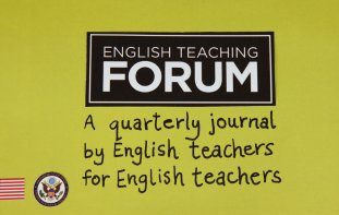 Title graphic reads: English Teaching Forum, a quarterly journal by English teachers for English teachers