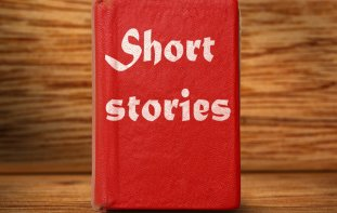 "Red book titled ""Short Stories"""