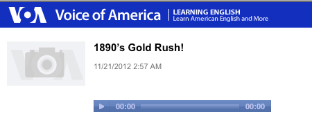 Voice of America: Gold Rush! Play Button