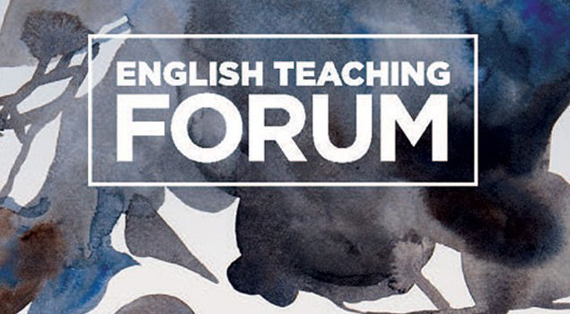 Forum cover with title and blue and grey flower design