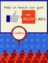 Help us reach 1 million fans on Facebook