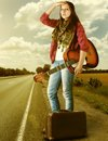 Photo of girl with guitar